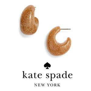 Kate spade new york Gold 41mm hoop earrings NWT